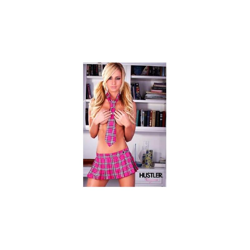 Cravate écolière 100% coton rose