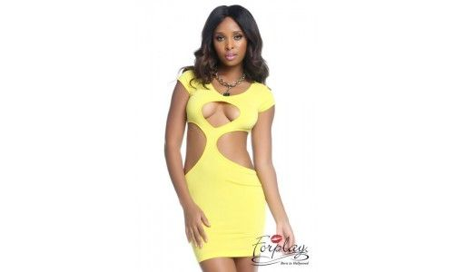 Robe HEATER jaune M