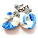 Menottes LOVE HANDCUFFS blanc-bleu