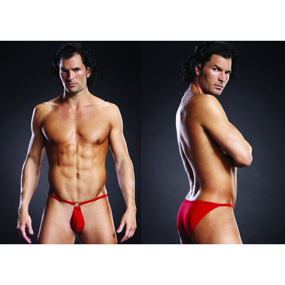 String homme BL POUCH BIKINI rouge S-M