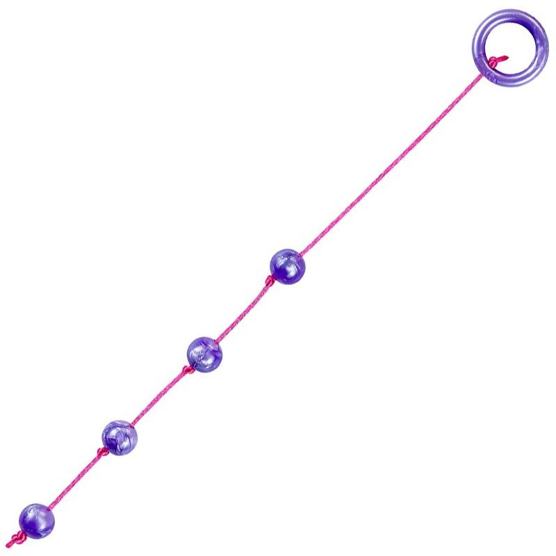 Chaînette anale MARBLE small violette Ø1,8cm