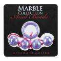 Chaînette anale MARBLE medium violette Ø2,2cm