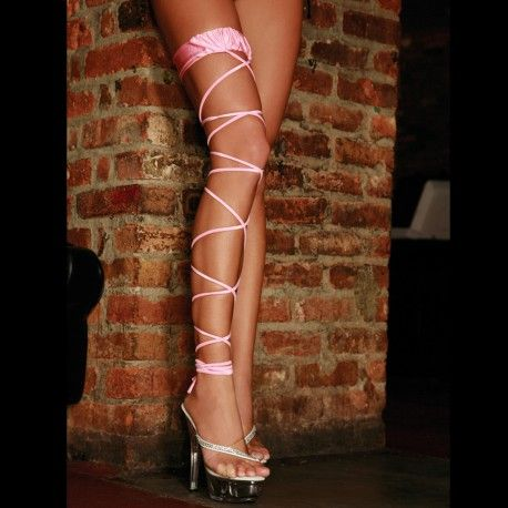Bas EL TWISTED LEG GARTER rose