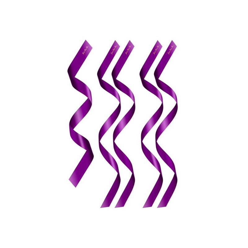 5 bandeaux en satin violet