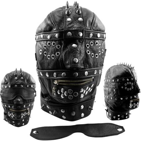 Masque Heavy noir en cuir
