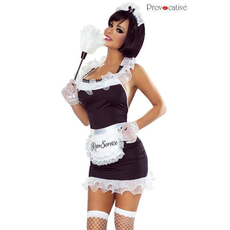 Costume de soubrette sexy 8 pièces L-XL