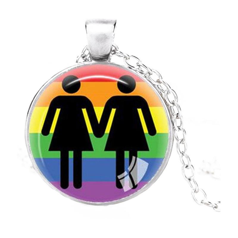 Médaillon couple femmes Rainbow